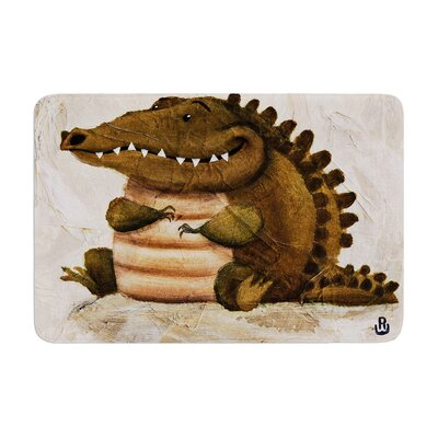 Rachel Kokko Smiley Crocodiley Memory Foam Bath Rug