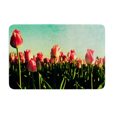 Robin Dickinson How Does Your Garden Grow Flowers Memory Foam Bath Rug