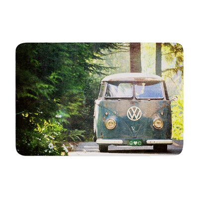 Robin Dickinson Peace Love Nature Forest Memory Foam Bath Rug