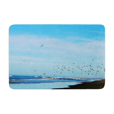 Robin Dickinson Beach Hair Coastal Memory Foam Bath Rug
