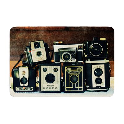 Robin Dickinson Through the Years Vintage Camera Memory Foam Bath Rug