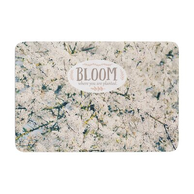 Robin Dickinson Bloom Where You Are Planted Floral Memory Foam Bath Rug
