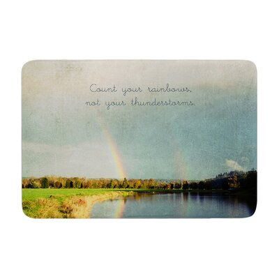 Robin Dickinson Count Rainbows Typography Memory Foam Bath Rug