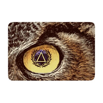 BarmalisiRTB Sharp Eye Owl Memory Foam Bath Rug