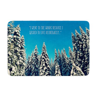 Robin Dickinson I Went to the Woods Memory Foam Bath Rug