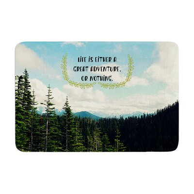 Robin Dickinson Life Is... Landscape Typography Memory Foam Bath Rug