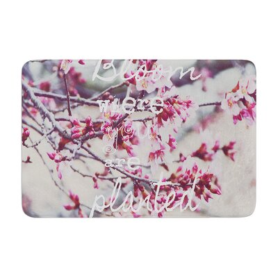 Suzanne Carter Bloom Memory Foam Bath Rug