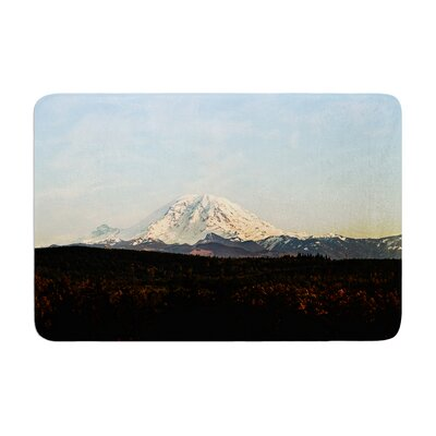 Sylvia Cook Mt. Rainier Mountain Photo Memory Foam Bath Rug