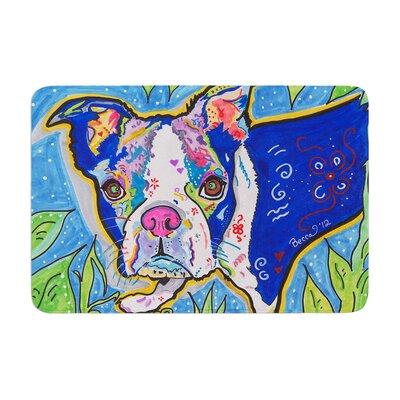 Rebecca Fischer Addy Mae Pug Terrier Memory Foam Bath Rug