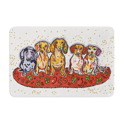 Rebecca Fischer Maksim Murray Enzo Ruby and Willy Dachshunds Memory Foam Bath Rug