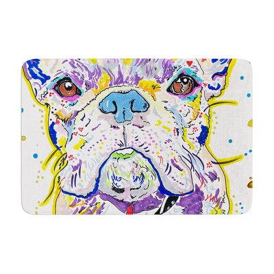 Rebecca Fischer Niko French Bulldog Memory Foam Bath Rug