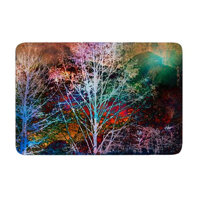 Sylvia Cook Trees in the Night Memory Foam Bath Rug