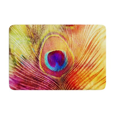 Sylvia Cook Peacock Feather Memory Foam Bath Rug