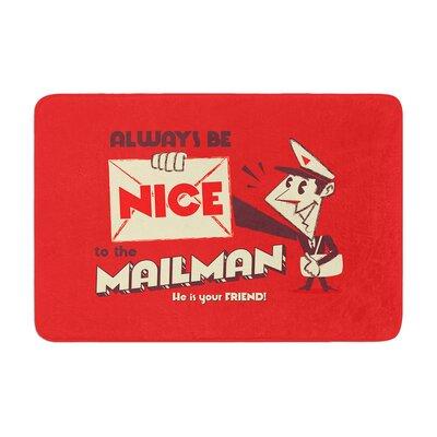 Roberlan Be Nice to the Mailman Memory Foam Bath Rug