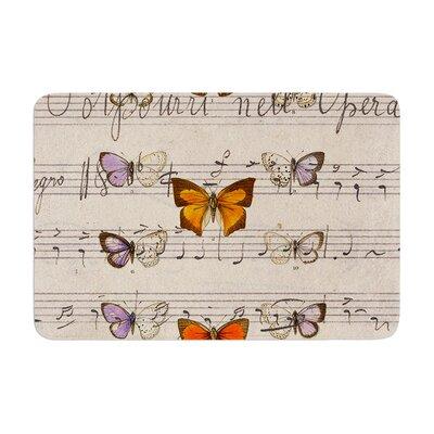 Suzanne Carter Butterfly Opera Music Memory Foam Bath Rug