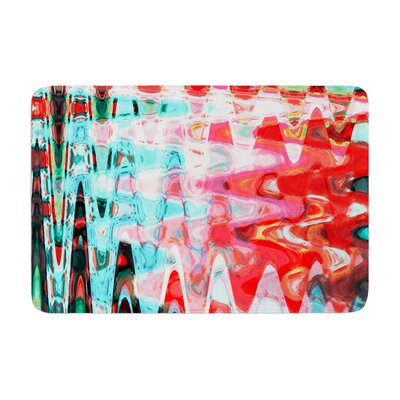 Suzanne Carter Wave Abstract Memory Foam Bath Rug