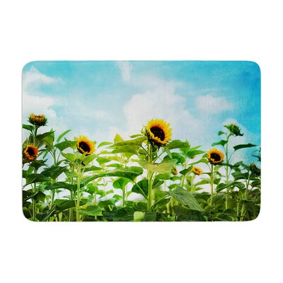 Sylvia Cook Sunflower Field Memory Foam Bath Rug