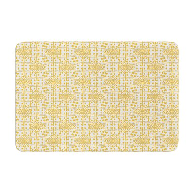 Apple Kaur Designs Diamonds Squares Memory Foam Bath Rug
