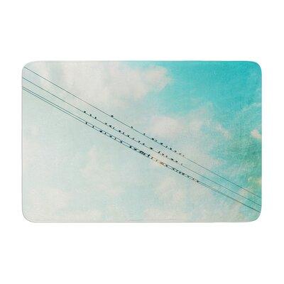 Sylvia Cook Birds on Wires Sky Memory Foam Bath Rug