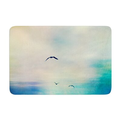 Sylvia Cook Freedom Birds Sky Memory Foam Bath Rug