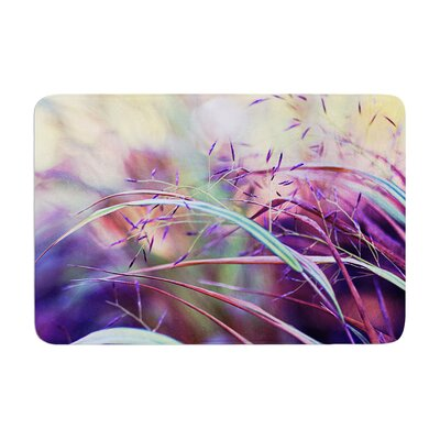 Sylvia Cook Pretty Grasses Memory Foam Bath Rug
