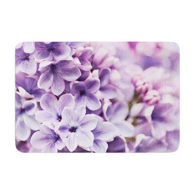 Sylvia Cook Lilac Flowers Memory Foam Bath Rug