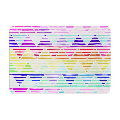 Sreetama Ray Stripes Cushion Chevron Memory Foam Bath Rug