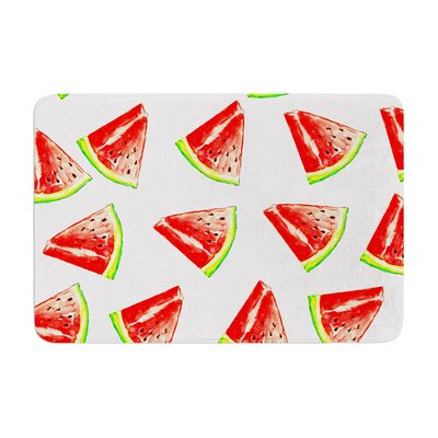 Sreetama Ray Summer Fun Watermelon Memory Foam Bath Rug