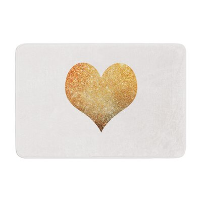 Suzanne Carter Heart Glam Memory Foam Bath Rug