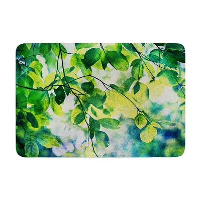 Sylvia Cook Leaves Memory Foam Bath Rug