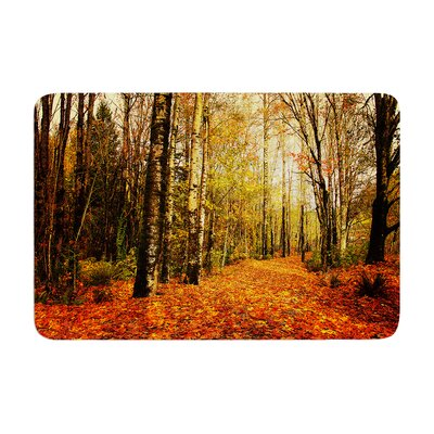 Sylvia Cook Autumn Leaves Rustic Memory Foam Bath Rug