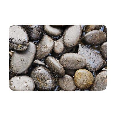 Susan Sanders Skipping Stone Rocks Memory Foam Bath Rug