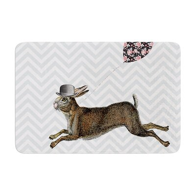 Suzanne Carter Hare Today Rabbit Memory Foam Bath Rug