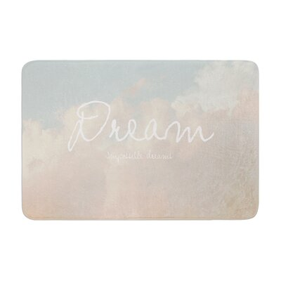Suzanne Carter Dream Quote Clouds Memory Foam Bath Rug
