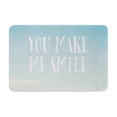 Susannah Tucker You Make Me Smile Beach Sky Memory Foam Bath Rug