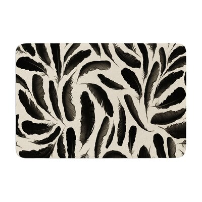 Skye Zambrana Feather Pattern Memory Foam Bath Rug