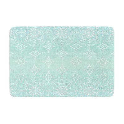 Suzie Tremel Medallion Ombre Memory Foam Bath Rug Color: Aqua