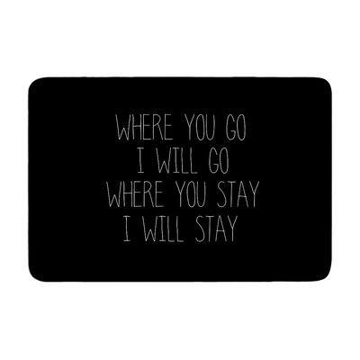 Suzanne Carter Where You Go Typography Memory Foam Bath Rug