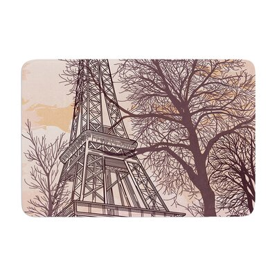 Sam Posnick Eiffel Tower Memory Foam Bath Rug