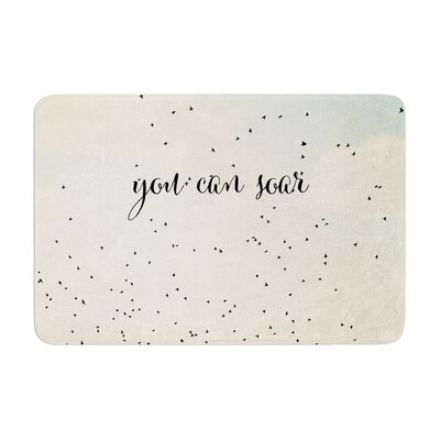 Susannah Tucker You Can Soar Typography Memory Foam Bath Rug