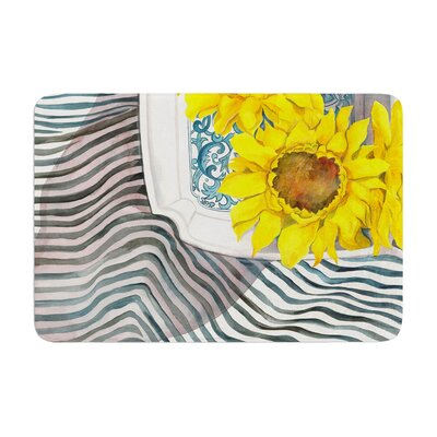 S. Seema Z Final Sunflower Flower Memory Foam Bath Rug