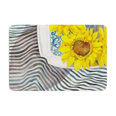 S. Seema Z Finall Sunflower Flower Memory Foam Bath Rug