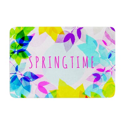 Sreetama Ray Seasons Springtime Leaves Memory Foam Bath Rug