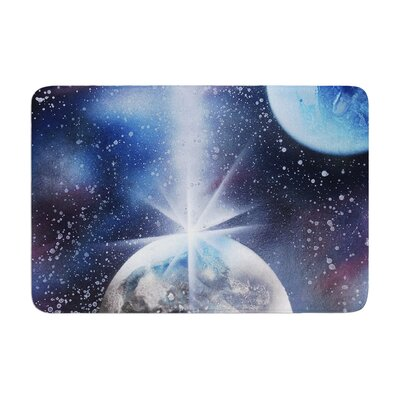 Infinite Spray Art Intergalactic Painting Memory Foam Bath Rug