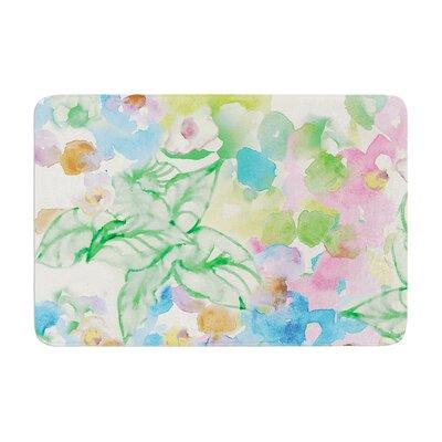 Sonal Nathwani Leaf Bouquet Memory Foam Bath Rug