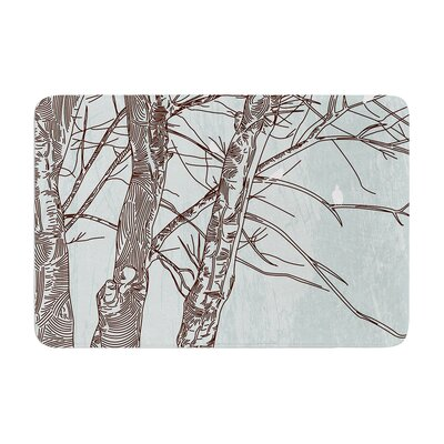 Sam Posnick Winter Trees Memory Foam Bath Rug