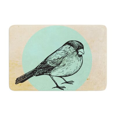 Sreetama Ray Old Paper Bird Circle Memory Foam Bath Rug