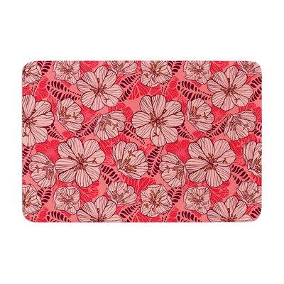 Suzie Tremel Flutter Floral Petals Memory Foam Bath Rug