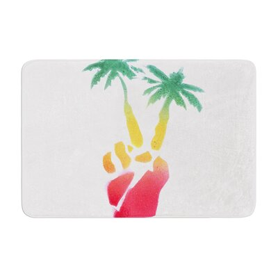 Infinite Spray Art Peace Palms Palm Tree Memory Foam Bath Rug