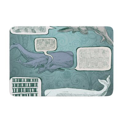 Sophy Tuttle Whale Talk Memory Foam Bath Rug